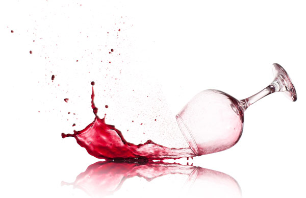 Spilled Wine From Glass Accident