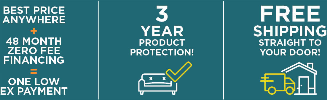 Best Price Anywhere + 48 Month Zero Fee Financing = One Low Ex Payment | 3 Year Product Protection | Free Shipping Straight to Your Door