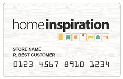 HomeInspiration credit card financing option