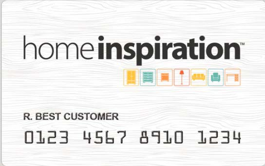 HomeInspiration example credit card