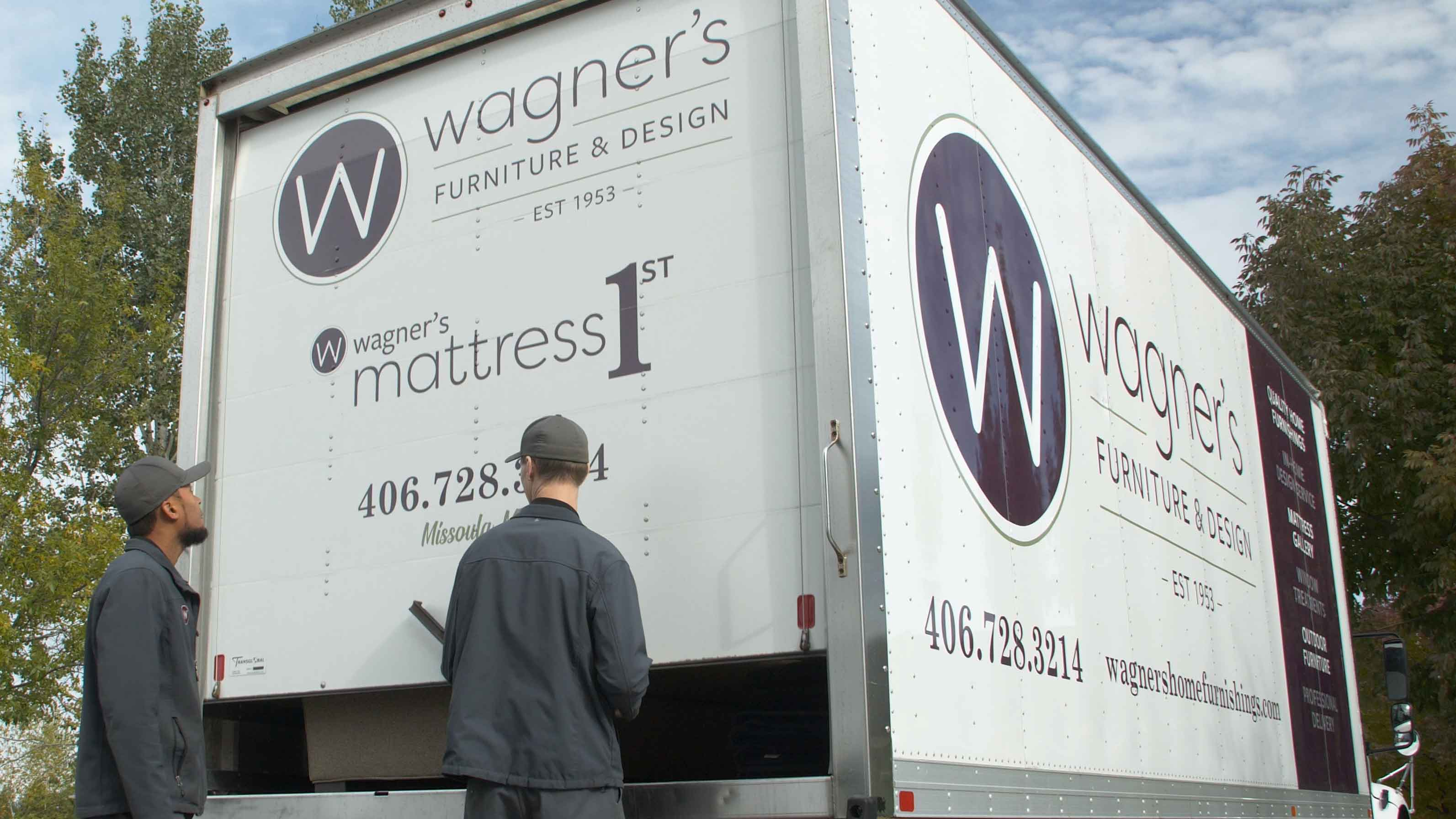 Wagner's delivery truck being opened