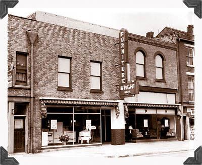 Historic photograph of Wright Furniture in Hannibal, Missouri