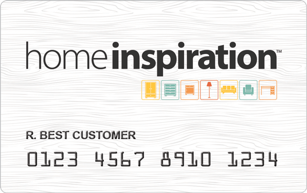 example of a Home Inspiration credit card